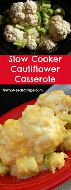 Slow Cooker Cauliflower Casserole is a huge hit! Easy to make and won't take oven space!