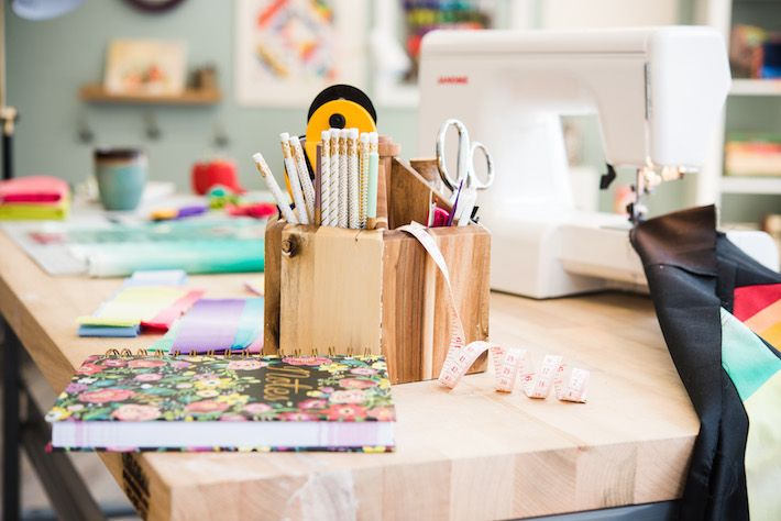 Smart storage solutions like these will make your sewing space a little more inspiring — without sacrificing convenience.