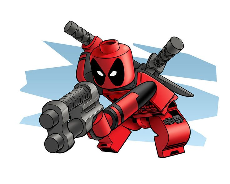 Lego Deadpool by RobKing21.deviantart.com on @DeviantArt