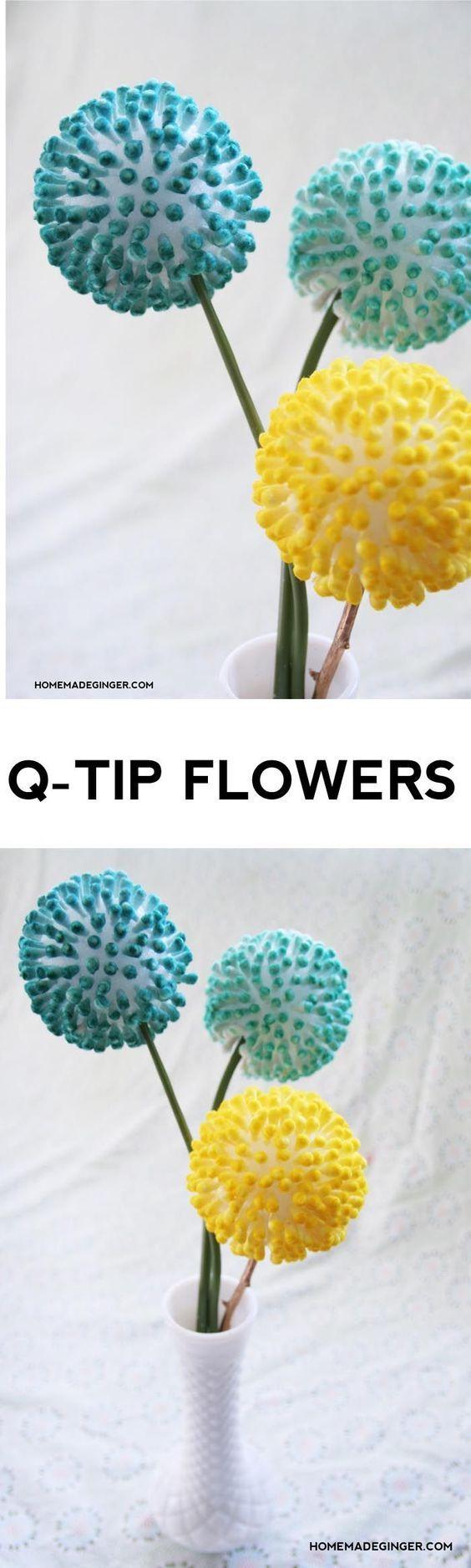 Anthropologie Inspired Q-Tip Flowers