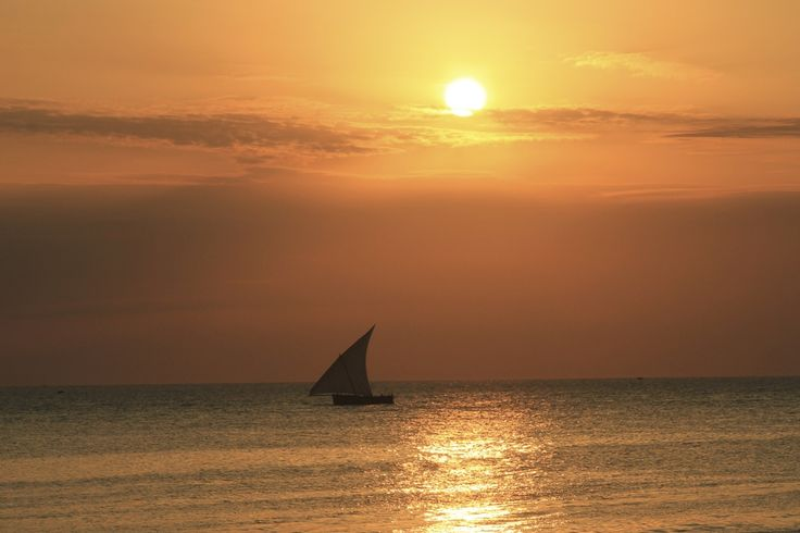 Sunset at Stone Town.
