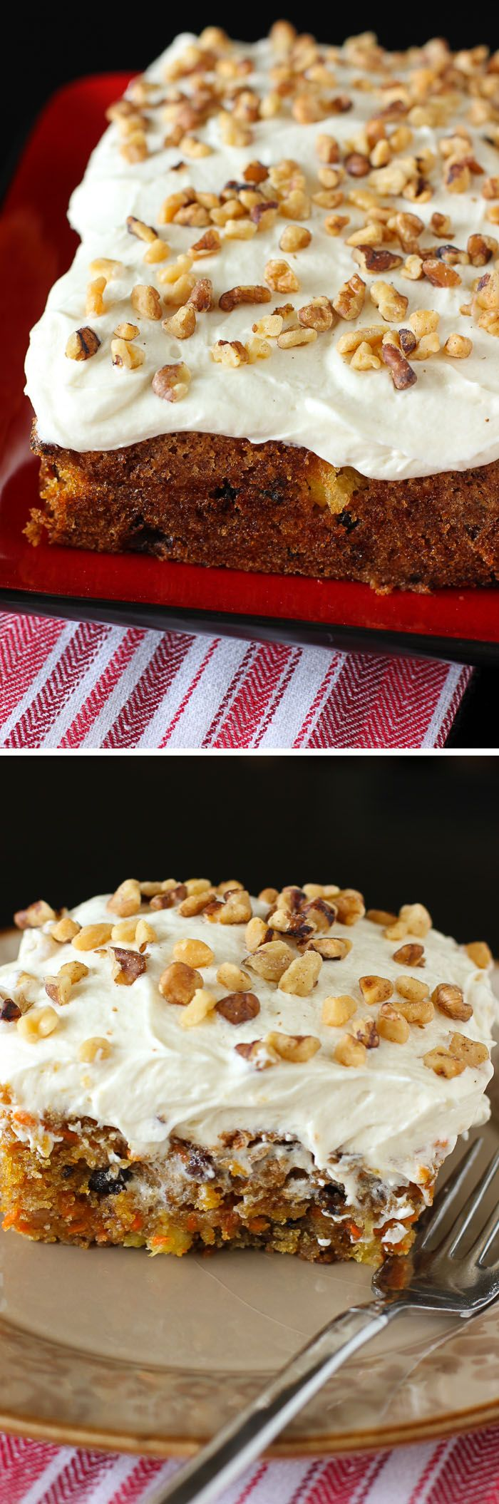 Easy Carrot Cake with Whipped Icing: the perfect sized little cake, and so easy to make -- no layer cake fuss! This is the best icing everrr.