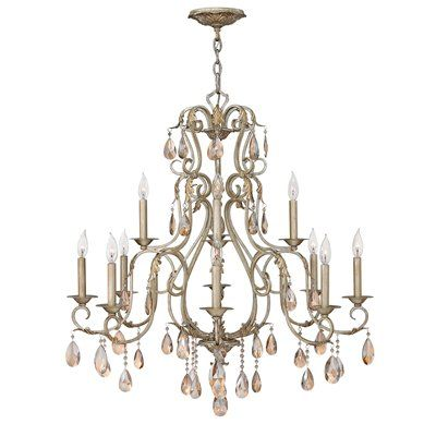 Hinkley Lighting 4778SL 12 Light Carlton Chandelier Silver Leaf