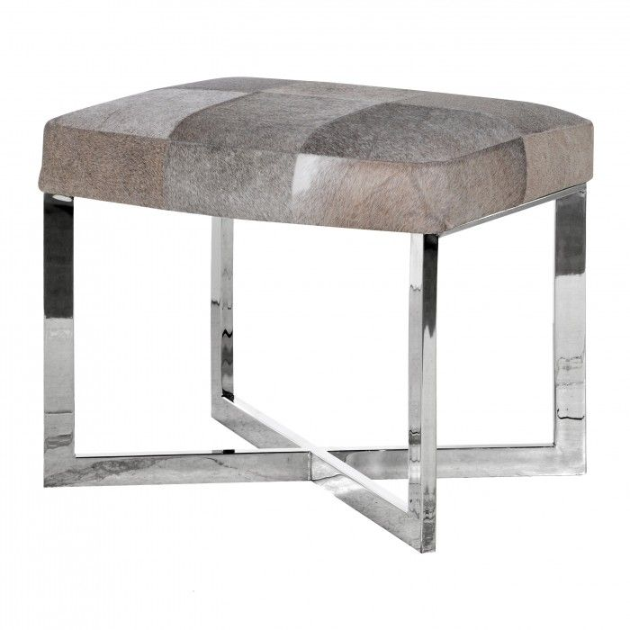Best Grey Leather Hide Stool Brown Leather Furniture 640 x 480