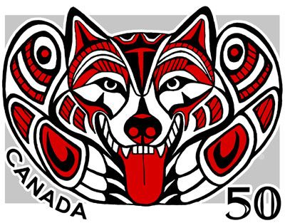 the other inspiration for my wolf tatoo haida malamute stamp sheezyart northwest native art. Black Bedroom Furniture Sets. Home Design Ideas