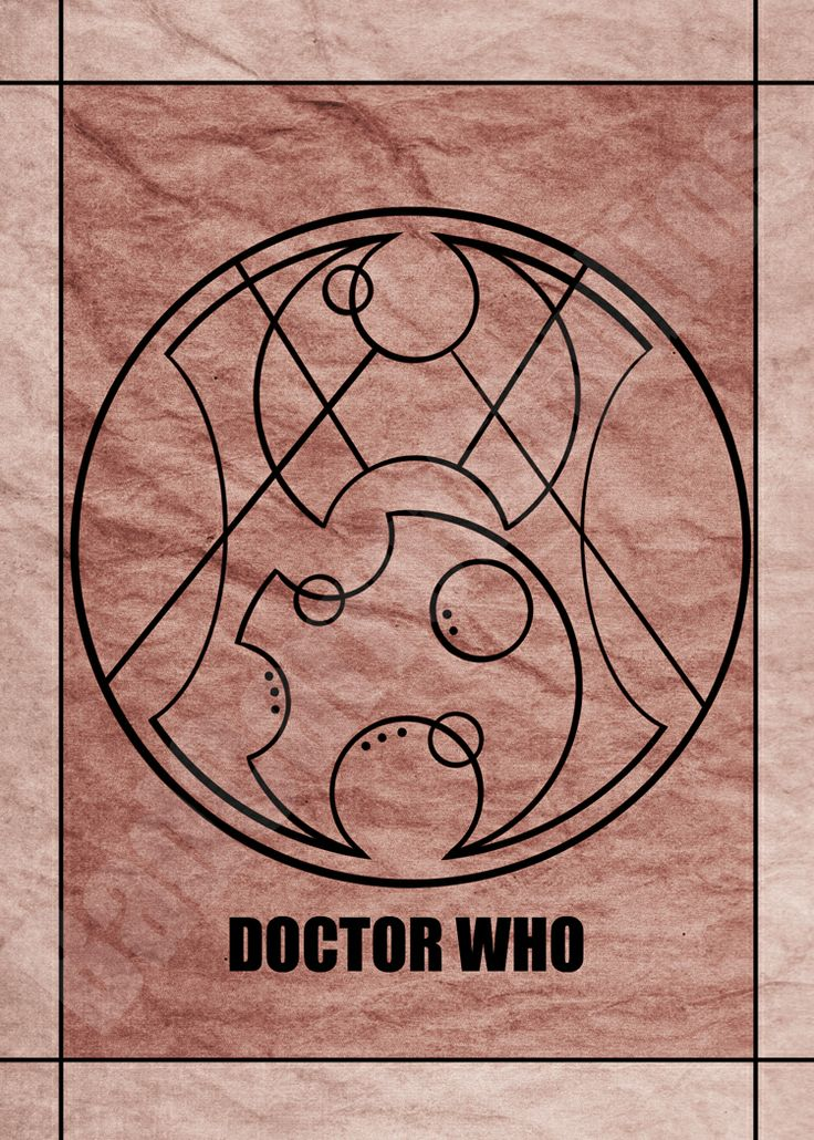 """The words """"Doctor Who"""" in Gallifreyan from the BBC TV show Doctor Who; art print available through Bad Carrot Studios Etsy store! Available in standard photo frame size: 5x7 Professionally made on glossy photo paper, and not from home printers.(watermark does not appear on artwork)"""