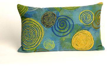 """Graffiti Swirl Blue Pillow - 12""""X20"""" - craftsman - Decorative Pillows - zopalo"""