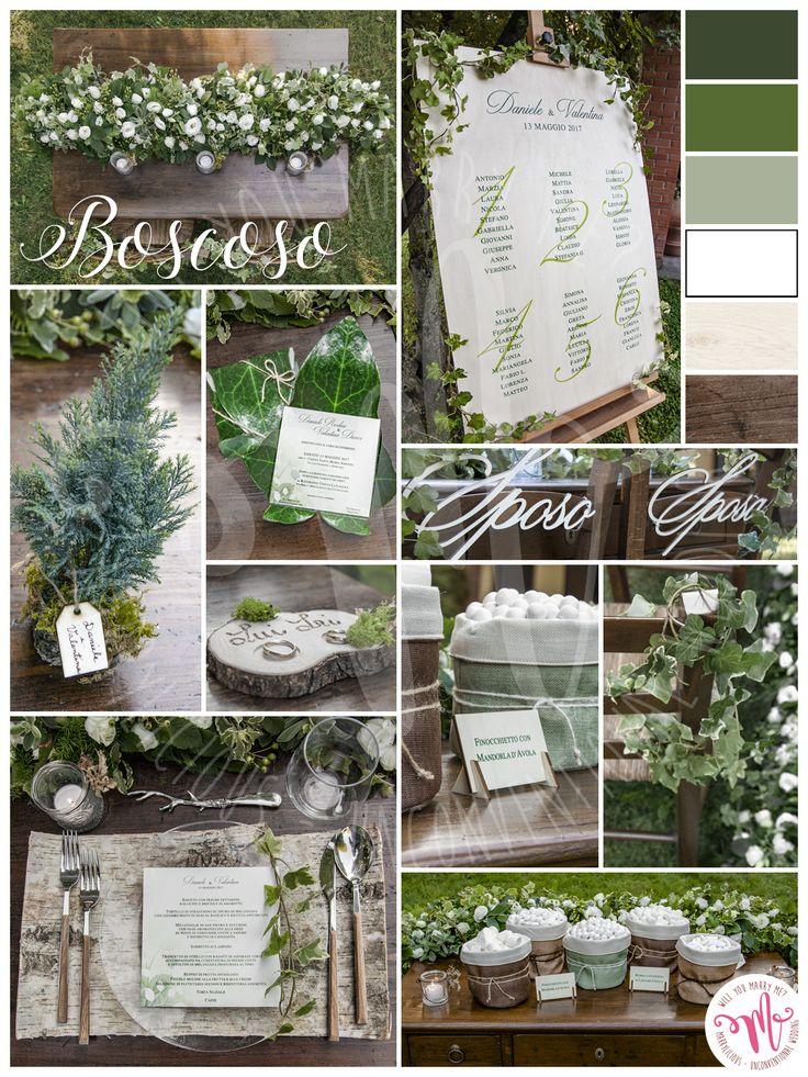 Boscoso è lo stile ideale per un matrimonio in simbiosi con la natura. Creato da Marrylicious - Boscoso is the ideal style for a wedding in symbiosis with nature. Created by Marrylicious.