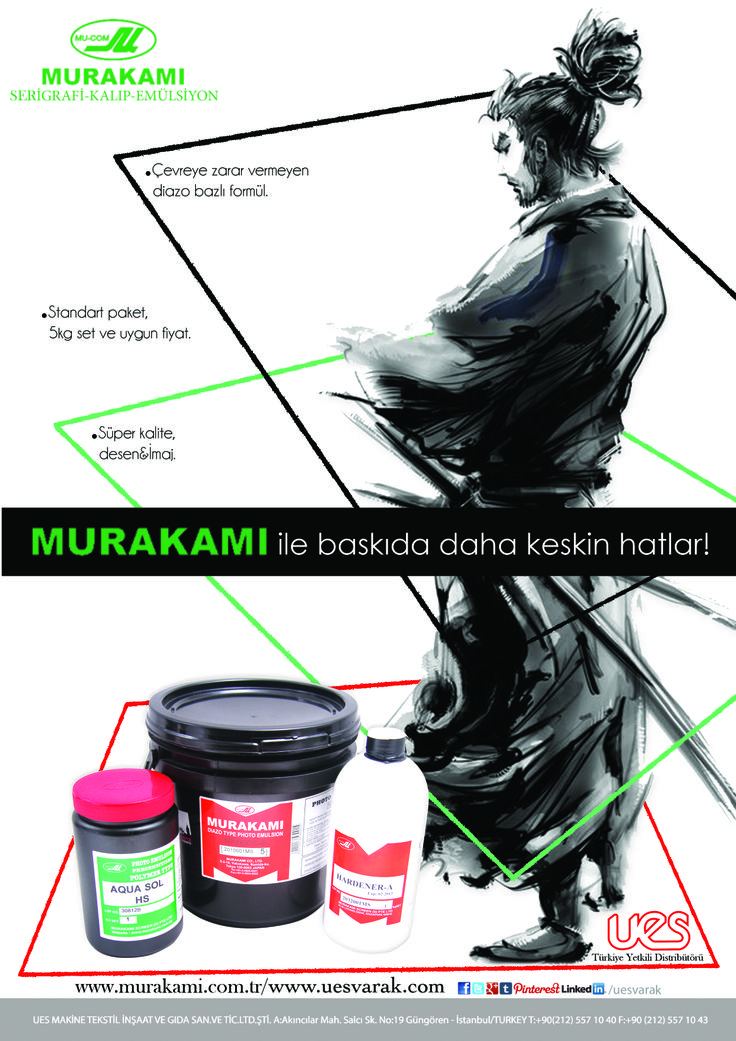Murakami Screen Printing Photo Emulsion April 2014 Turkey