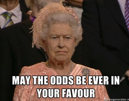 may the odds be ever in your favor #olympics #hungergames #queenelizabethii