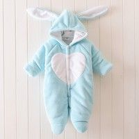 Wish | Newborn Baby Winter Clothes Fleece Baby Boy Clothes Animal Jumpsuit Baby Girl Rompers Baby 0-1 Years Old Climbing Clothing