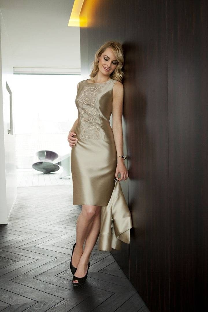 Sheath Column Tank Top Knee Length Brown Party Dress Pplr0051 $233.99 Party Dresses