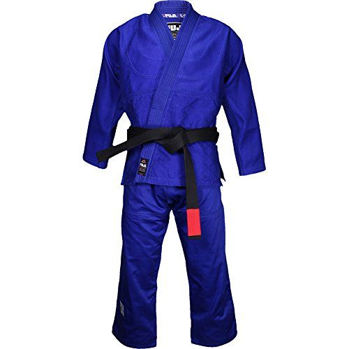 Fuji Deluxe Double Weave Judo Gi is a great quality gi for training and competition! It's an upgrade to any double weave judo gi in your collection! Thick collar Double weave weight Soft 100% cotton H...