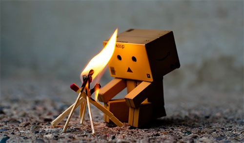Cute Little Cardboard Robot Photos