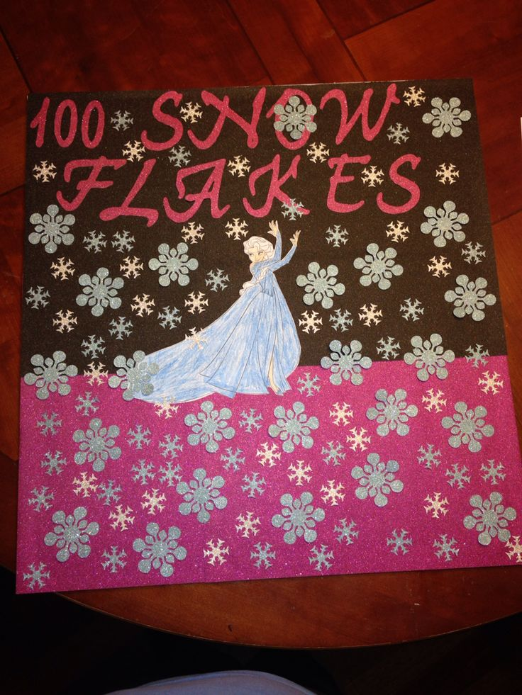 100 Day of School Project Idea Elsa & 100 Snowflakes