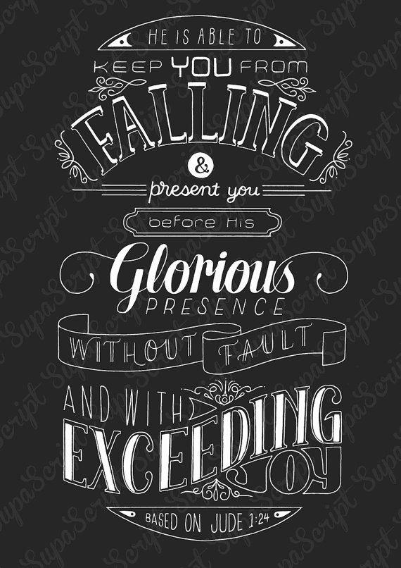 Printable hand lettered vintage Bible verse art, Jude 1 - instant download on Etsy, $5.71