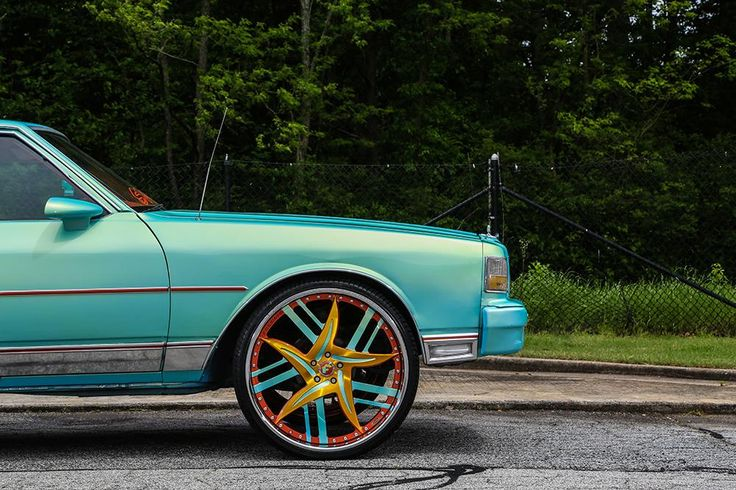 Turquoise 1989 Chevrolet Caprice (Box Chevy) gets cool Forgiato Wheels (4)