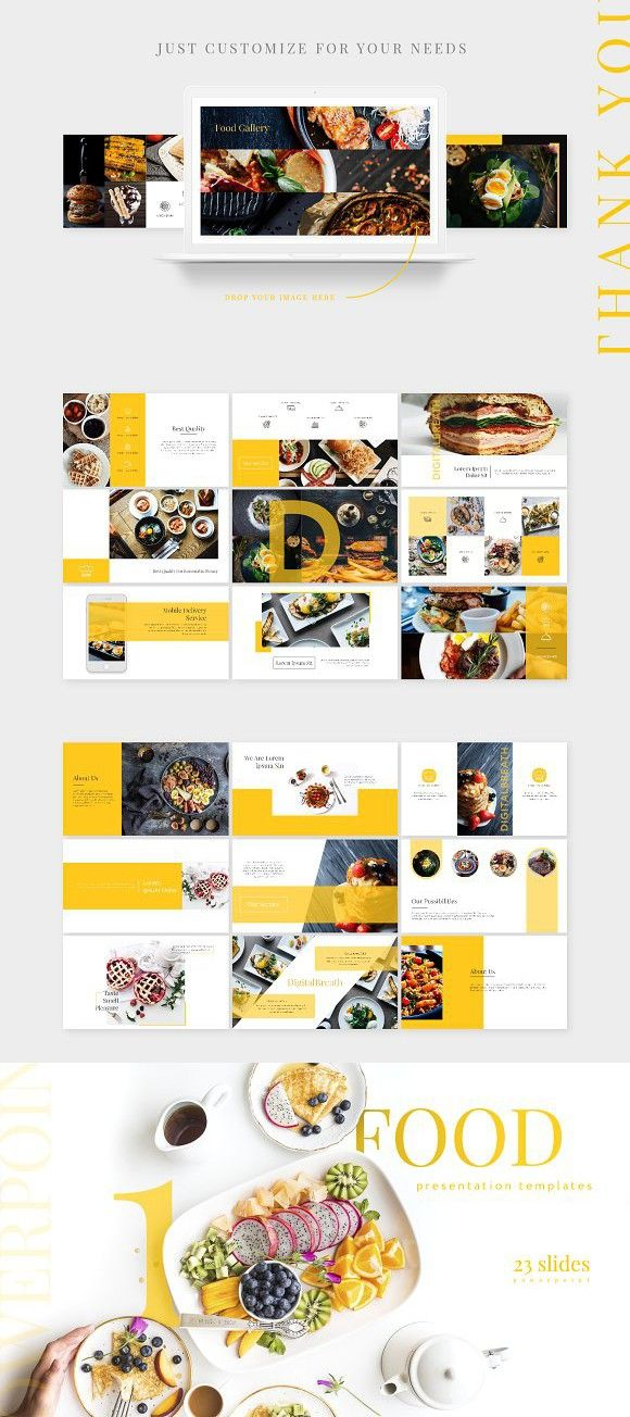 Food Presentation Template Ppt 음식 무료 글꼴 템플릿