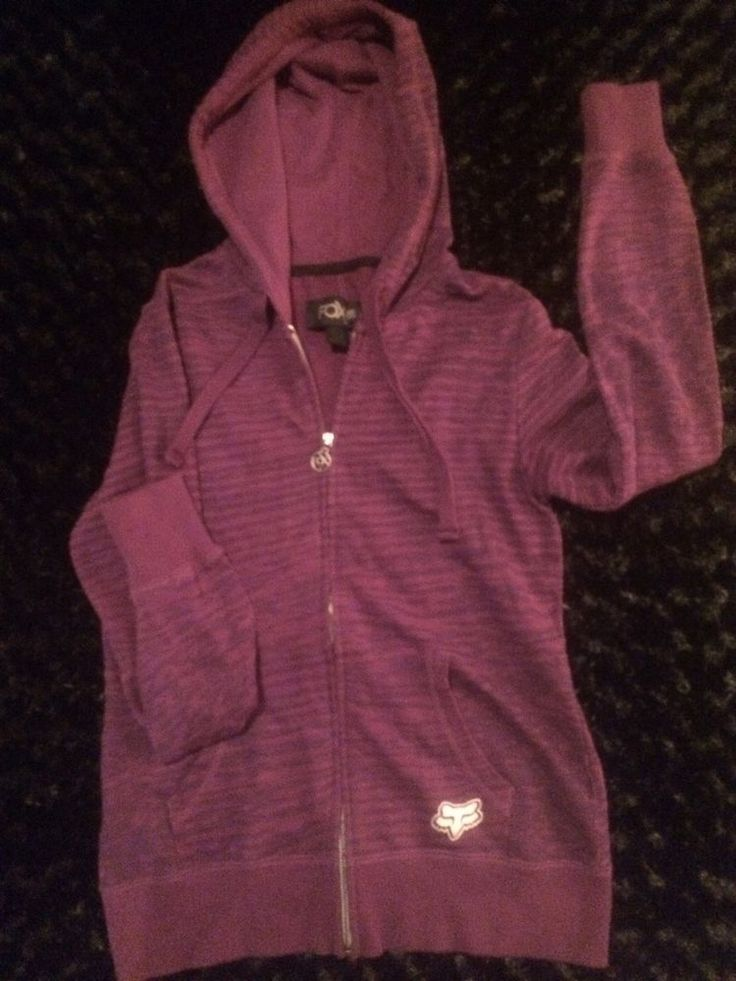 Fox Women's Zip Up Hoodie Hoody. Purple Zebra Pattern Med VGC  #Fox #CoatsJackets