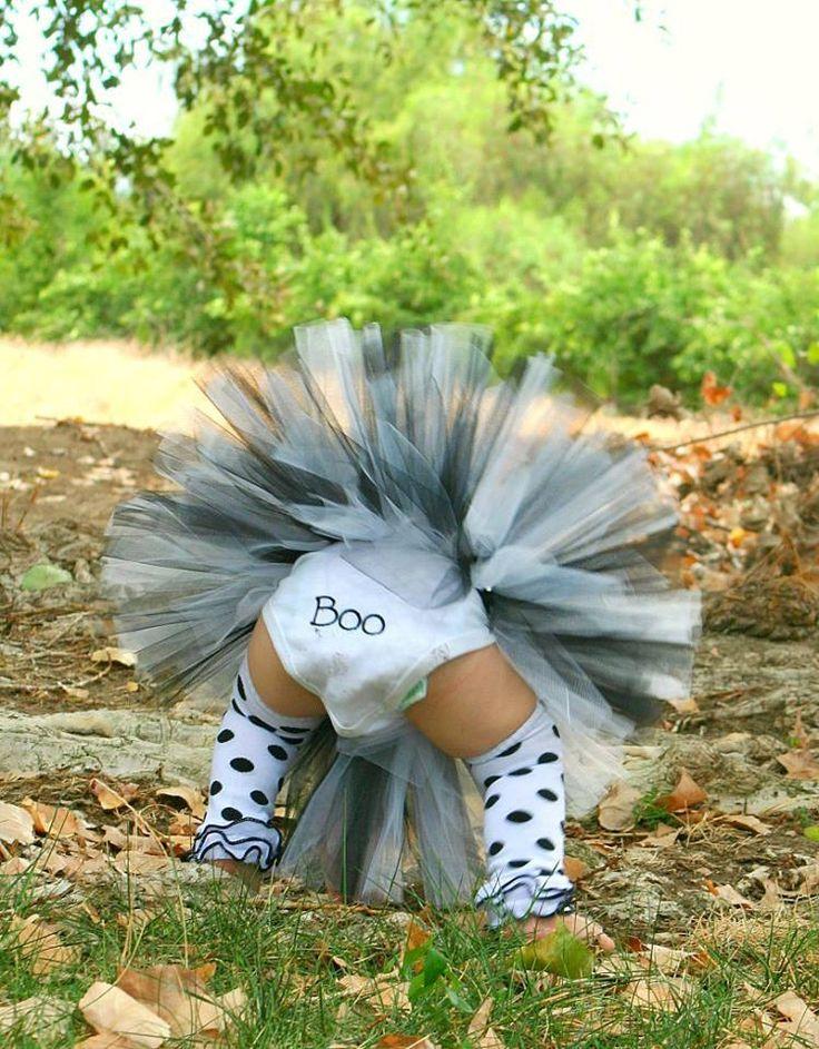 Halloween Ghost Costume Tutu set Halloween by JosieRosieBoutique, $55.50