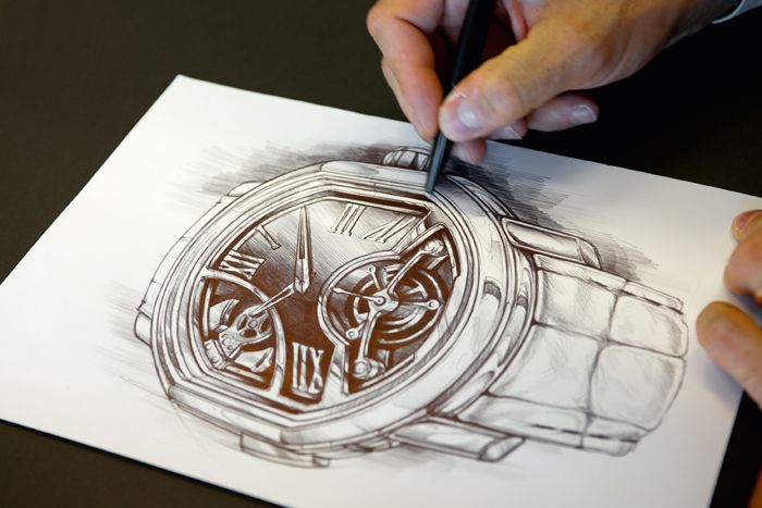 Bulgari Designs and sketches exactly as it sees the watch taking shape.