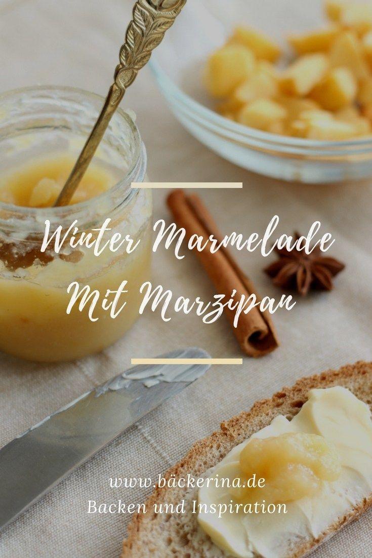 Diese einfache Winterapfel Marmelade ist schnell gemacht und ein ganz besonderes Geschenk in der Weihnachtszeit. Mit Marzipan, Mandellikör und feinem Zimt!