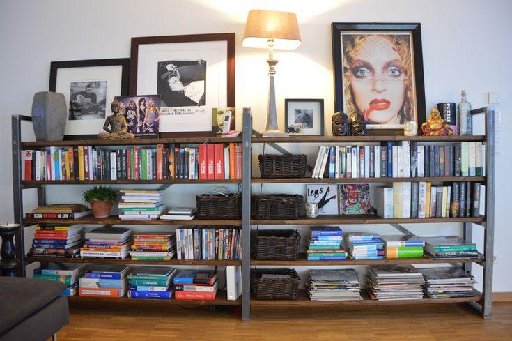 Bücherregale - Regal Industrial Loft Design Bücherregal Industrie - ein Designerstück von Manufaktur-Kordmann bei DaWanda