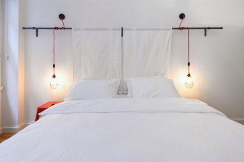 Industriële hanglampen als nachtlamp | Slaapkamer ideeën