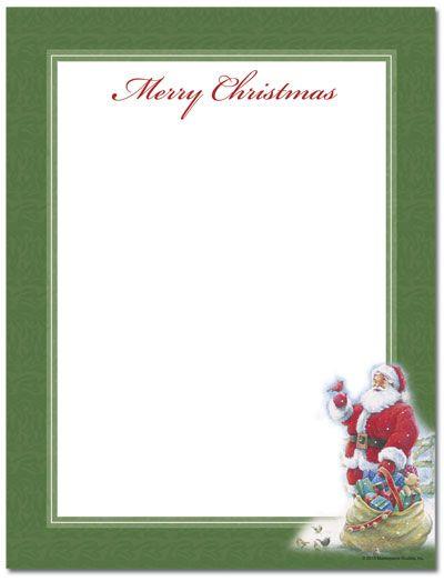 Santa & Bird Letterhead