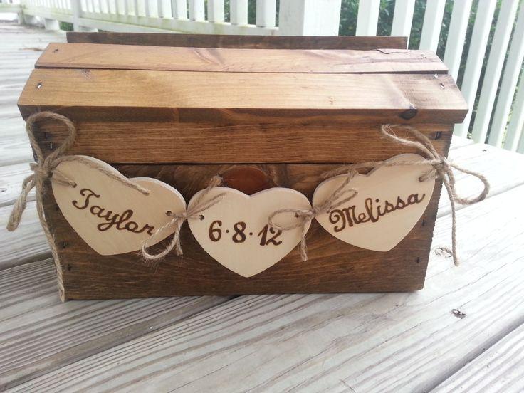 Rustic+wedding+card+box+fall+wedding+card+box+country+by+PineNsign,+$69.95