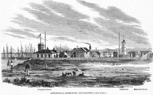 Wood engraving from 1862 showing the Williamstown Observartory.