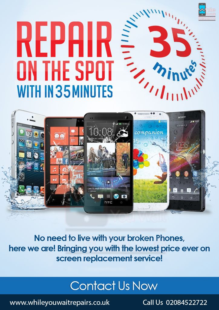 No need to live with your broken Phones,  here we are! Bringing you with the lowest price ever on screen replacement service!