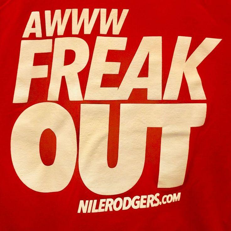 Nile Roger Freak Out Let's Dance Club DJ House Party Disco Music Tour T-shirt❤…