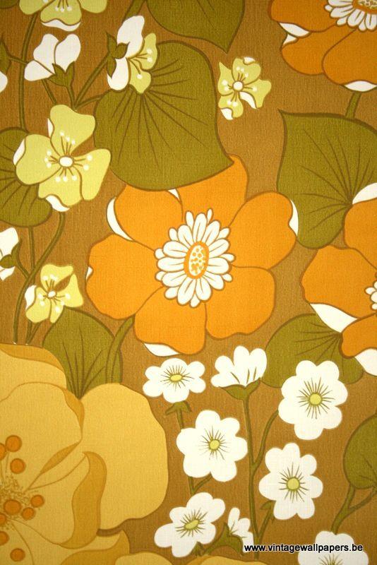 Vintage Floral Vinylwallcovering