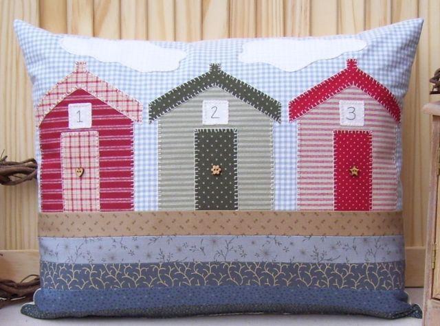 PATTERN - Prim Linz Beach Huts Cushion Pattern | eBay