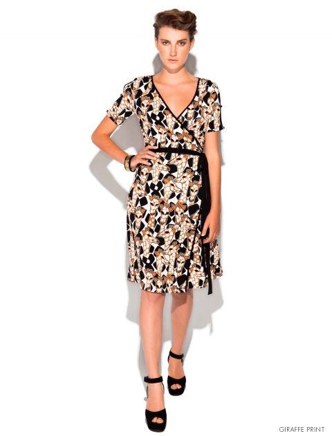 Leona Edmiston Bay Dress with playful giraffe print.