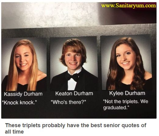 Almost makes you wish you had to share birthdays with two other siblings on the same day. #triplets #graduation #lol Source - Clean Funny Pics & Humor | Sanitaryum.com - Google+