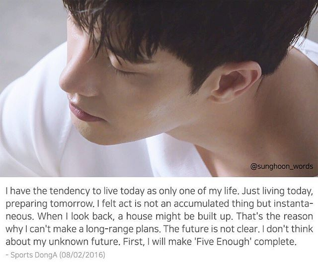 Right, the future is not clear. #성훈인터뷰 #sunghooninterviews #sunghoon_words #성훈 #방성훈 #배우성훈 #sunghoon #ソンフン #成勛 #sunghoon198
