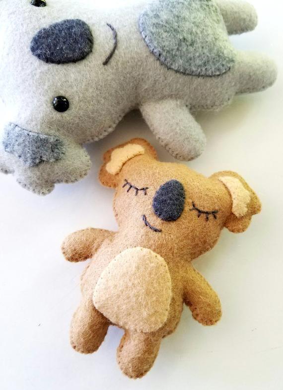 Felt Koala Bear Softies Felt Toy Sewing Pattern – Tutorial – PDF e PATTERN