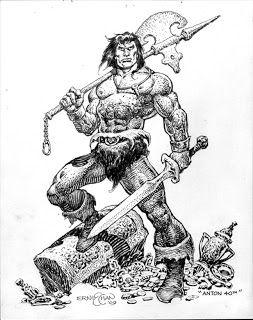 """Ernie Chan  Ernesto """"Ernie"""" Chan est un auteur et dessinateur de bandes dessinées américaines, originaire des Philippines. Il est né en 1940 et il immigre aux États-Unis en 1970. Il étudiera longtemps avec John Buscema. Ernie Chan est surtout connu pour ses dessins sur Conan le Barbare."""