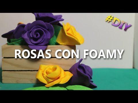 Como hacer rosas de foami f ciles y bonitas rosas de - Como hacer manualidades faciles ...