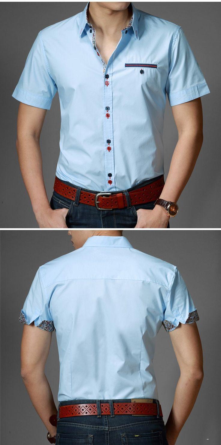 camisa casual slim fit homme