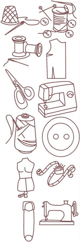 Advanced Embroidery Designs - Sewing Redwork Set
