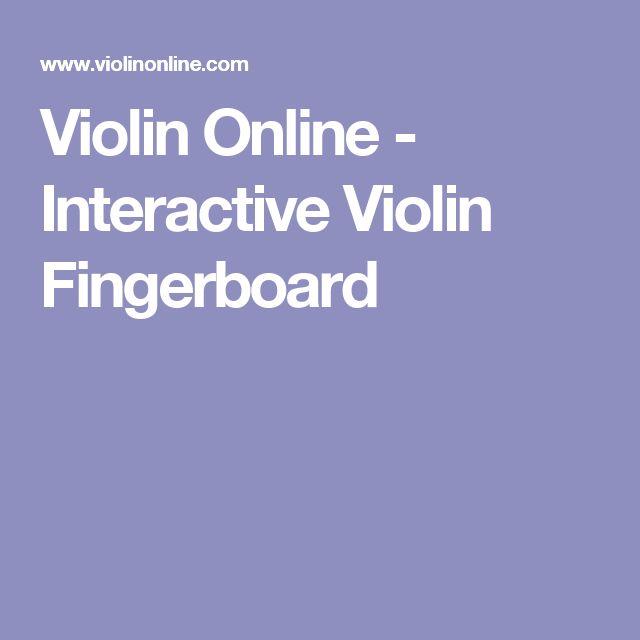 Violin Online - Interactive Violin Fingerboard