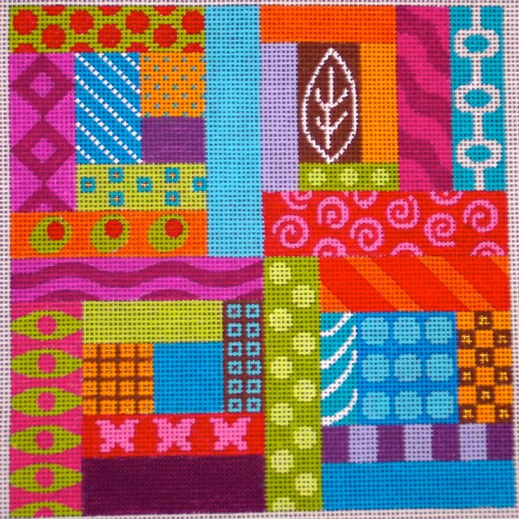 Pattern Puzzle by EyeCandy Needleart needlepoint canvas