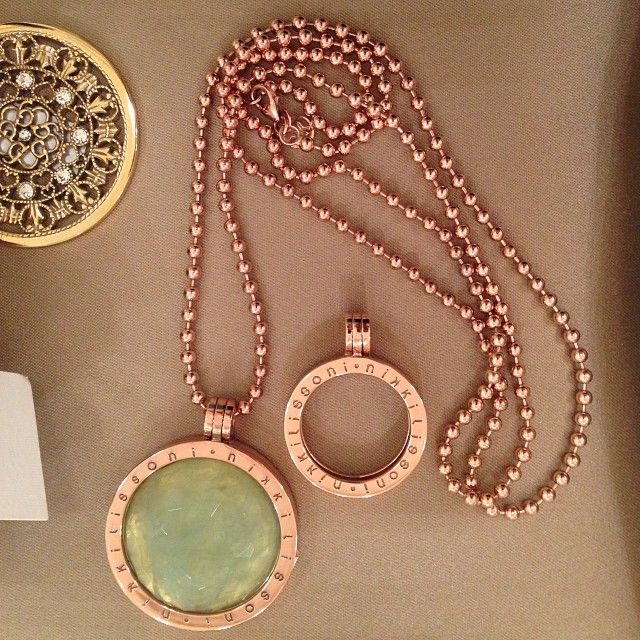 Interchangeable coin pendants & chain by Nikki Lissoni