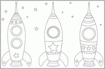Space coloring pages from nanacake.