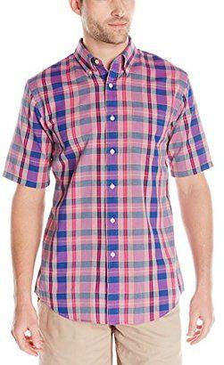 Pendleton Men's Fitted Seaside Madras Shirt - Shop for women's Shirt - Bright Green/Turquoise/Navy Plaid Shirt
