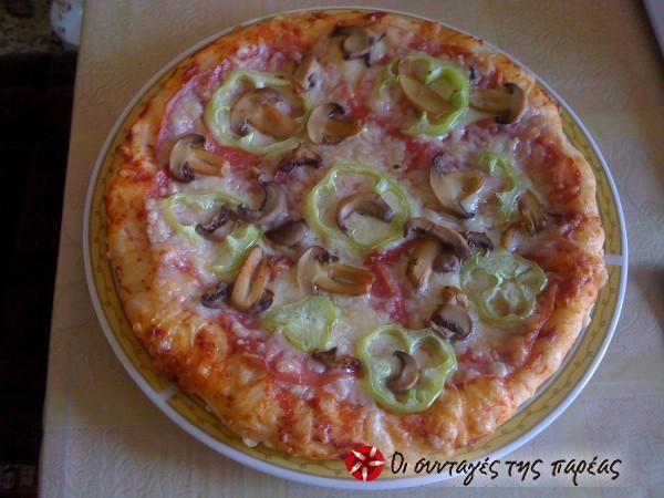 Pizza di spagna σπιτική σαν σε ξυλόφουρνο #sintagespareas