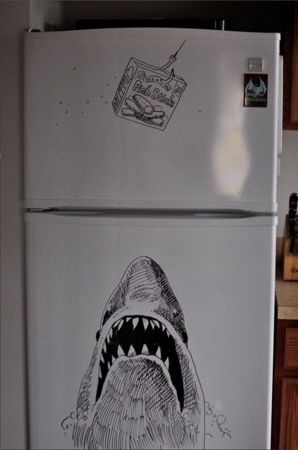 Artist S Freezer Friday Sketches Make Kitchen A Little Livelier